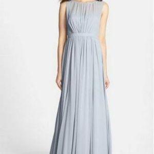 Jenny Yoo Bridesmaid Chiffon Dress Light Blue - 12